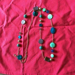 Blue fashion necklace